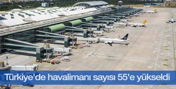 Aslan: Türkiye'de havalimanı sayısı 55'e yükseldi