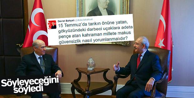 Kılıçdaroğlu ve Bahçeli görüştü