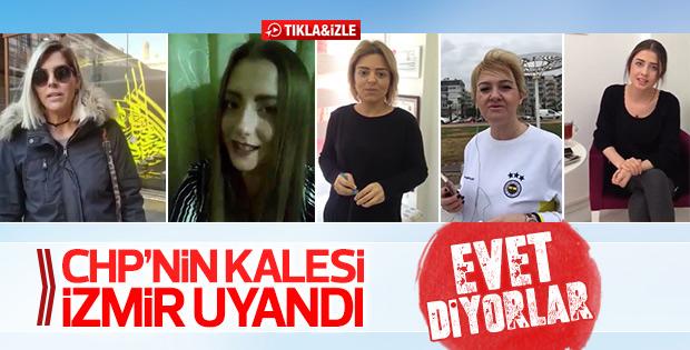 İzmirli kadınlar anayasa değişikliği için EVET diyor