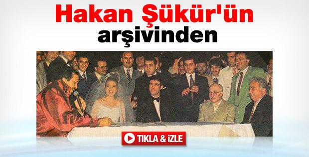 Hakan Şükür'ün nikah görüntüleri