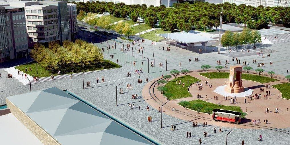 Topbaş Taksim Meydanı projesinin fotoğrafını paylaştı