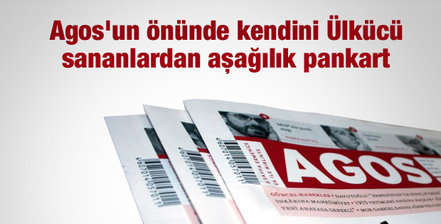 Agos Gazetesi önünde çirkin pankart