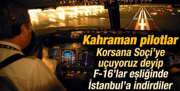 Kaçırılan uçaktaki pilotların büyük başarısı