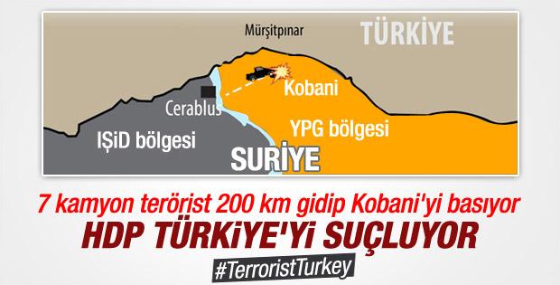 IŞİD Suriye'de 200 km yol gidip Kobani'yi bastı