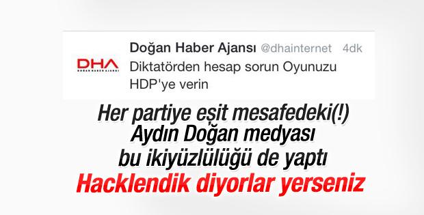 DHA'dan Twitter'da HDP'ye oy çağrısı