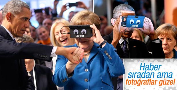 Obama ve Merkel birlikte fuar açtı