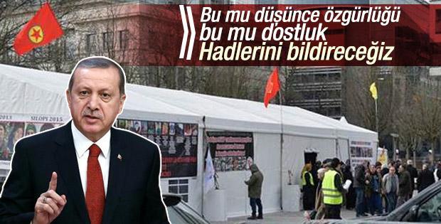 Erdoğan'dan AB'ye PKK çadırıyla ilgili tepki