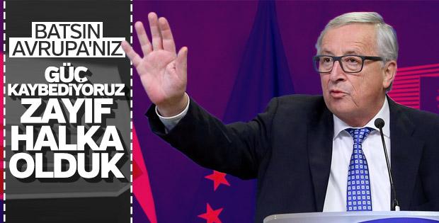 Claude Juncker: Avrupa güç kaybediyor