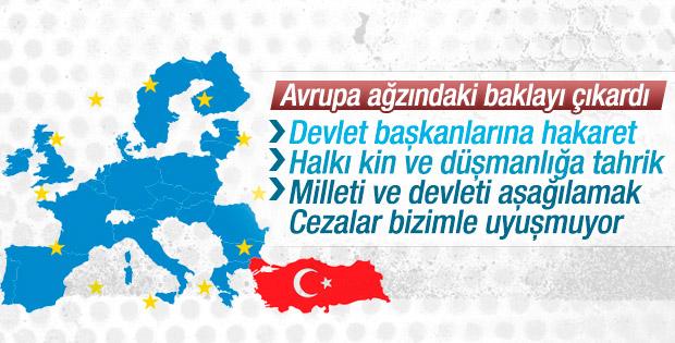 Avrupa'dan Türkiye'ye TCK hakkında kritik istekler