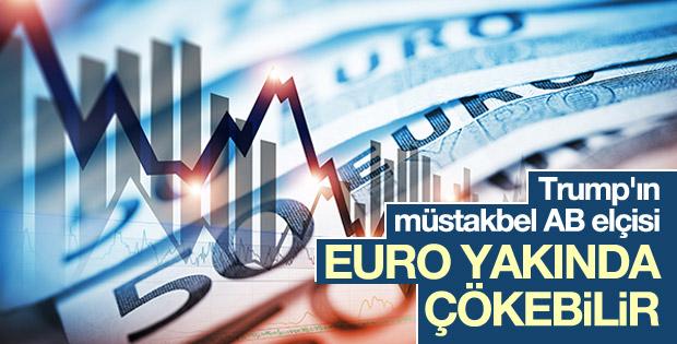 Trump'ın müstakbel AB elçisi: Euro yakında çökebilir