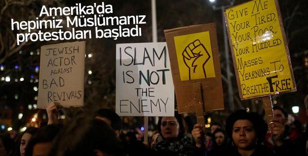 Amerikalılardan 'Hepimiz Müslümanız' sloganları