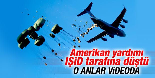 IŞİD ABD'nin gönderdiği yardım paketini ele geçirdi İZLE
