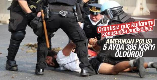 ABD polisi 5 ayda 385 kişi öldürdü