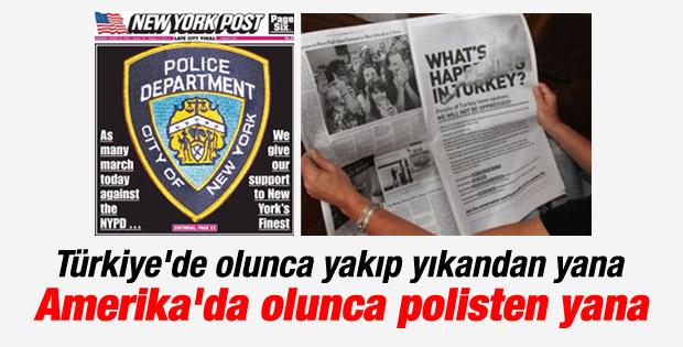 New York Post gazetesinden ABD polisine tam sayfa destek