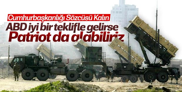 İbrahim Kalın: Türkiye anlaşılırsa Patriot da alabilir