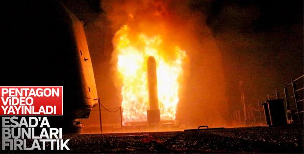 ABD, Tomahawk füzelerinin ateşlendiği anı paylaştı