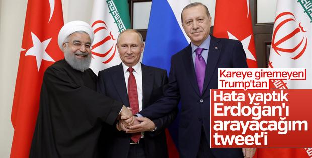 Donald Trump - Cumhurbaşkanı Erdoğan görüşmesi