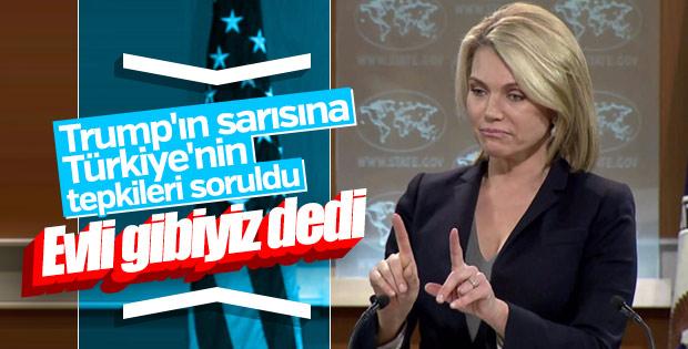 ABD'ye Türkiye soruldu: Siyasi ilişkiler evlilik gibidir
