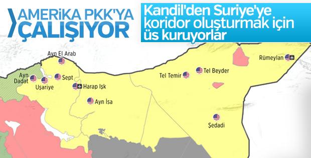 Amerika terör örgütü PKK'ya komşu oluyor