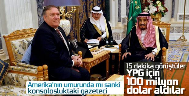 Suudiler ABD-YPG iş birliğine 100 milyon dolar verdi