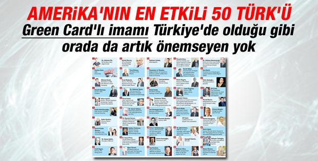 ABD'nin en etkili 50 Türk'ü belli oldu