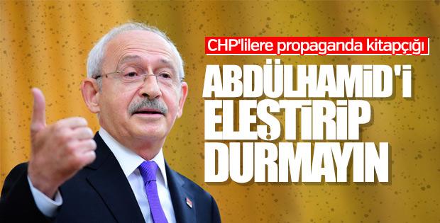 Kılıçdaroğlu'ndan CHP'lilere Abdülhamid uyarısı