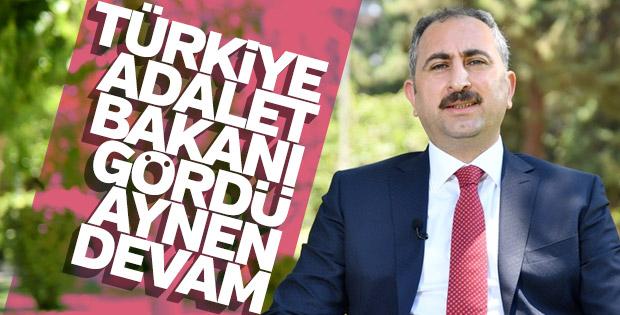 Abdülhamit Gül, adalet bakanı olarak devam ediyor