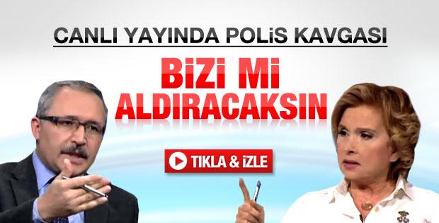 Abdülkadir Selvi ile Nazlı Ilıcak arasında polis kavgası