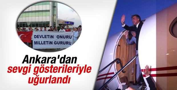 Abdullah Gül Ankara'dan ayrıldı