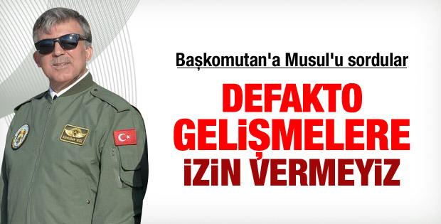 Abdullah Gül'den Musul açıklaması