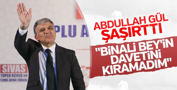 Abdullah Gül Sivas'ta halka hitap etti