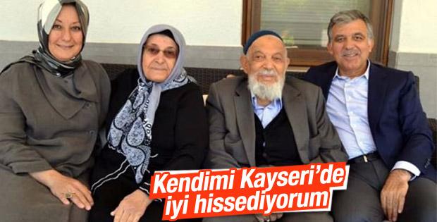 Abdullah Gül baba ocağında