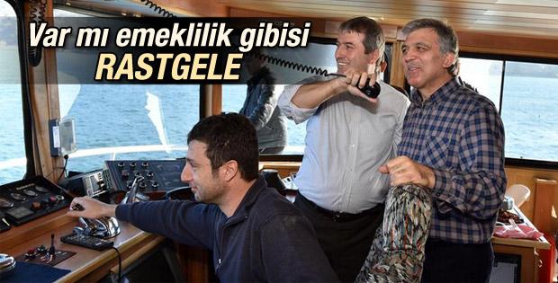 Abdullah Gül balık avına çıktı