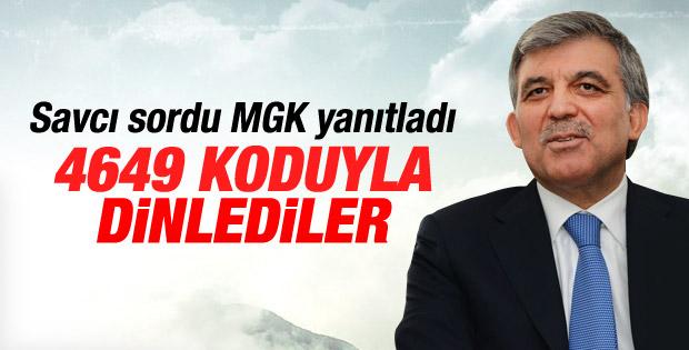 Abdullah Gül'ü 4649 koduyla 2 yıl dinlemişler