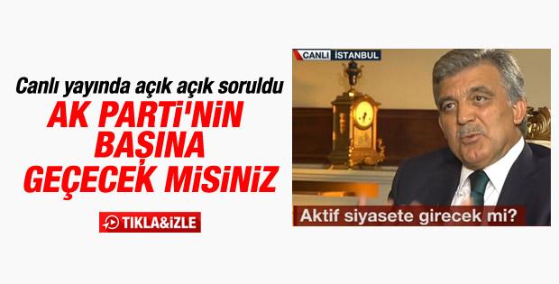 Abdullah Gül NTV'de soruları yanıtladı