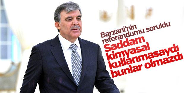 Abdullah Gül'den Irak ve Suriye yorumu