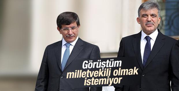 Davutoğlu'na Abdullah Gül vekil olacak mı sorusu