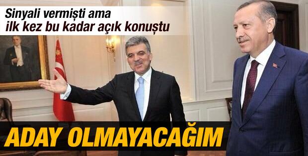 Abdullah Gül Köşk'e aday olmayacak