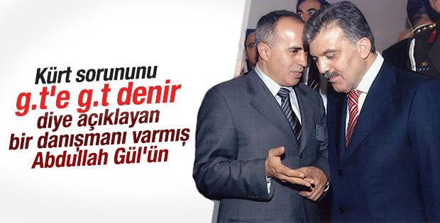 Abdullah Gül'ün danışmanının Kürt sorunu tanımlaması