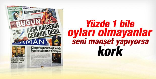 Abdullah Gül'ün açıklamaları Cemaat'in manşetlerinde