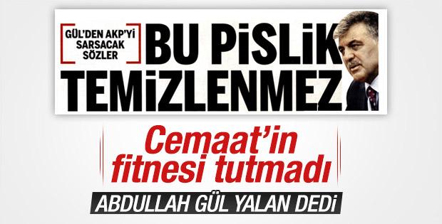 Abdullah Gül Taraf'ın manşetini yalanladı
