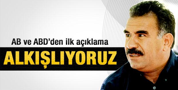 AB ve ABD'den Öcalan'ın açıklamalarına destek