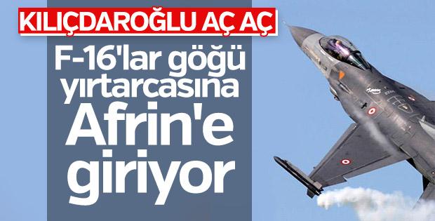 Sınırda jet hareketliliği: F-16'lar Afrin'e bomba yağdırdı