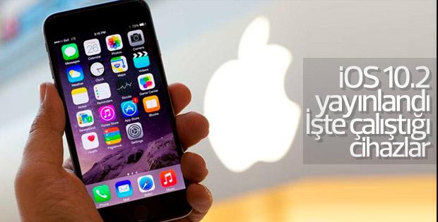 iOS 10.2 hangi cihazlarda çalışıyor