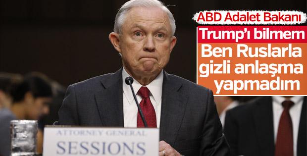 Sessions Rusya iddialarını reddetti