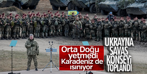 Ukrayna'da savaş konseyi toplandı