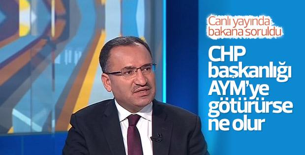 Adalet Bakanı Bozdağ'a CHP'nin AYM girişimi soruldu
