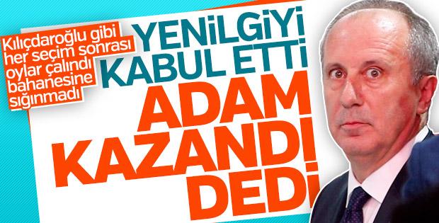 Muharrem İnce, Erdoğan'ın zaferini kabul etti