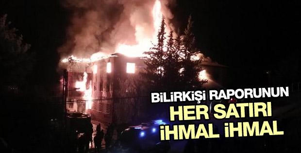 Adana'daki yangın faciası hakkında bilirkişi raporu