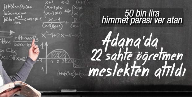 Adana'da sahte öğretmen çetesi çökertildi